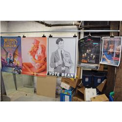 Lot of Movie Posters (5)(Bean, Wizards of The Lost Kingdom, Clue)