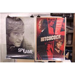 Lot of Movie Posters (2)(Spy Game, Hitchcock)