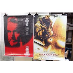 Lot of Movie Posters (2)(The Hunt, Black Hawk Down)