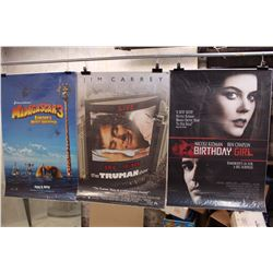 Lot of Movie Posters (3)(Madagascar 3, The Truman Show, Birthday Girl)