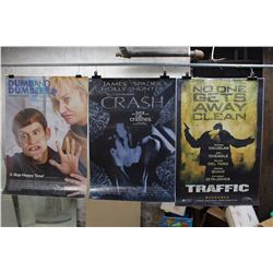 Lot of Movie Posters (3)(Dumb And Dumber, Crash, Traffic)
