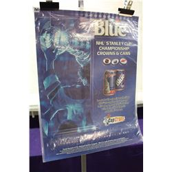 Labatt Blue NHL Stanley Cup Crowns & Cans Poster