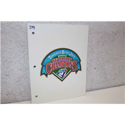 Toronto Blue Jays Note Pad Booklet (1992)