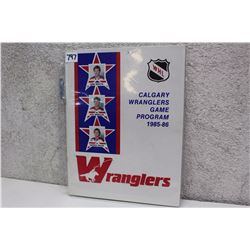 WHL Calgary Wranglers Game Program (1985-86)