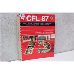 75TH Grey Cup CFL Facts Figures & Records (1987)