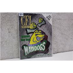 CFL Illustrated Memphis Mad Dogs Magazine