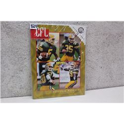 CFL Illustrated Edmonton Eskimos Magazine (1996)