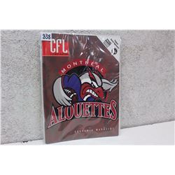 CFL Illustrated Montreal Alouettes Souvenir Magazine