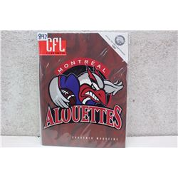CFL Illustrated Montreal Alouettes Souvenir Magazine (1996)