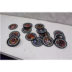 Lot of Assorted Metal Hockey Card Pogs