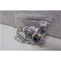 Bag of Assorted Classic Hockey Card Pogs
