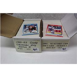 1991-92 Candian Hockey Cards Series I and Series II Sets (660 Cards)