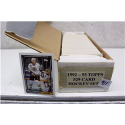 1992-93 Topps Hockey Cards Set (529 Cards)