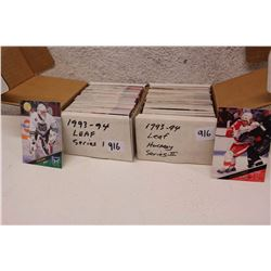 1993-94 Leaf Hockey Cards Sets (Series I and Series II Cards)