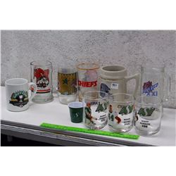 Lot of Football Related Glasses and Cups