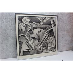 Framed MC Escher Hanging Print