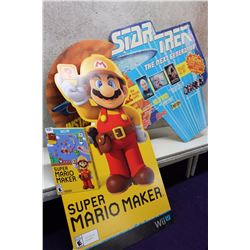 Mario Maker and Star Trek The Next Generation Cardboard Cut Out Advertisements