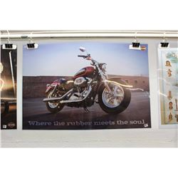 "Harley-Davidson Double-Sided Poster (36"" x 25"")"