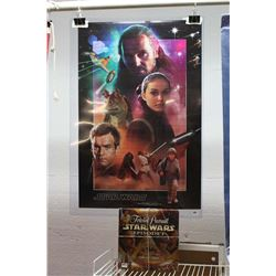 "Star Wars Poster & Star Wars Trivial Pursuit Collectors Edition Game (36"" x 24.5"")"