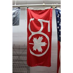 "Air Canada 50th Anniversary Flag (71"" x 36"")"