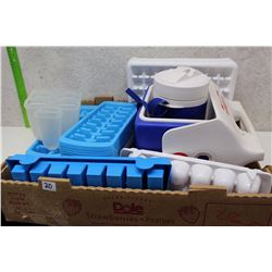Lot of Ice Cube Trays (26) (Plus A Cooler)
