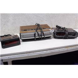 Lot of Radio Alarm Clocks (3)