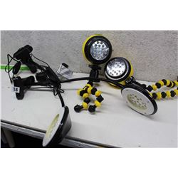 Lot of Adjustable Lamps (4)
