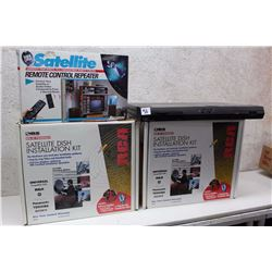 Lot of Satellite Devices (Satellite Dish Installation Kit (2), Satellite Remote Control Repeater)