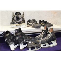 Lot of Hockey Skates (4 Pairs) & Soccer Cleats (2 Pairs)