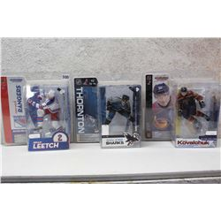NHL Figures (3)(Ilya Kovalchuk, Brian Leetch & Joe Thornton)