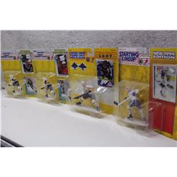 Starting Lineup NHL Figures (4)(Mario Lemieux(2), Pat LaFontaine, Jeremy Roenick)