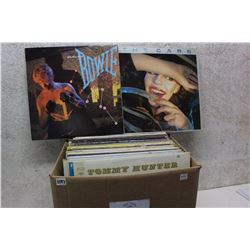 Box of LP Records (David Bowie, The Cars, etc;)