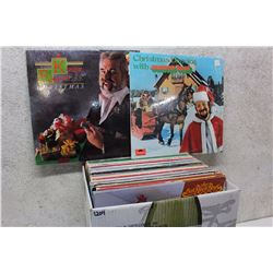 Box of LP Records (All Christmas Related Records)