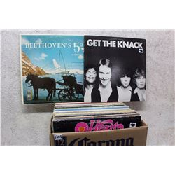 Box of LP Records (Get The Knack, Beethoven, etc;)