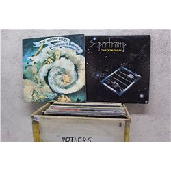 Box of LP Records (Supertramp, The Moody Blues, etc;)