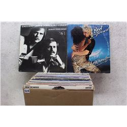 Box of LP Records (England Dan & John Ford Coley, Rod Stewart, etc;)