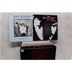 Box of LP Records (Pretenders, Daryl Hall & John Oates, etc;)