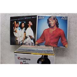 Box of LP Records (Andy Gibb, Pointer Sisters, etc;)