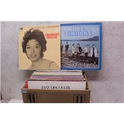 Box of LP Records (Blue Northern, Ginamaria Hidalgo, etc;)