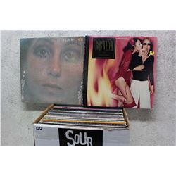 Box of LP Records (Cher, Bob Welch, etc;)