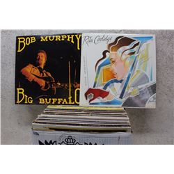 Box of LP Records (Bob Murphy, Rita Coolidge, etc;)