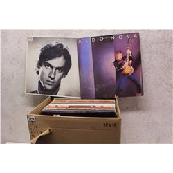 Box of LP Records (James Taylor, Aldo Nova, etc;)