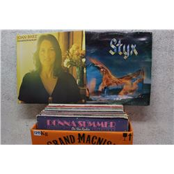 Box of LP Records (Styx, Joan Baez, etc;)
