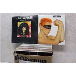 Box of LP Records (Gino Vannelli, Eurythmics, etc;)