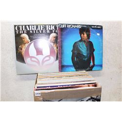 Box of LP Records (Cliff Richard, Charlie Rich, etc;)