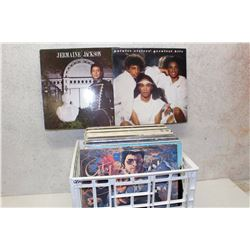 Box of LP Records (Pointer Sisters, Jermaine Jackson, etc;)