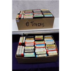 Lot of 8 Tracks (Bee Gees, Kenny Rogers, etc;)