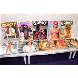 Lot of Gallery Magazines (10)(Various Dates 1977-82)