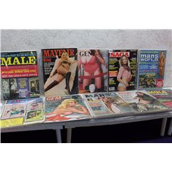Lot of Misc Adult XXX Magazines (10)(Male, Man's World, etc;)