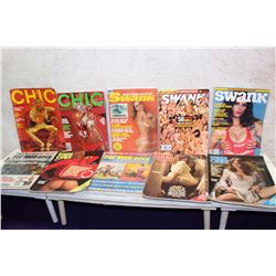 Lot of Misc Adult XXX Magazines (10)(Swank, Men Only, Chic)